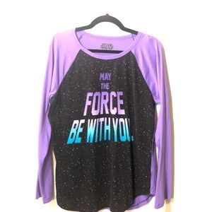 """Disney Star Wars """"May the Force Be With You"""" Sz: L"""